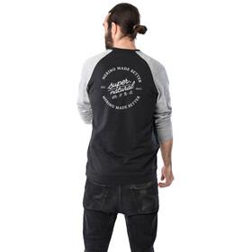 super.natural Signature Contrast Suéter Cuello Redondo Hombre, negro/gris